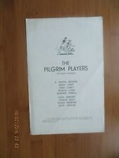 VINTAGE ADVERTISING ITEM THE PILGRIM PLAYERS CANTERBURY COMPANY