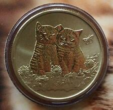 2015 AUSTRALIAN CATS  $1 UNC TUVALU COINS - NOT ISSUED FOR CIRCULATION