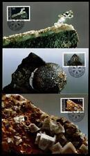 Mineralien. 3 Maximumkarten. Liechtenstein 1989