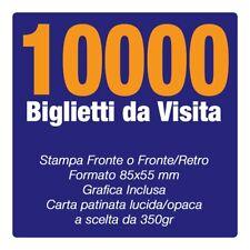 10000 Biglietti da Visita carta pat350gr Fronte Retro SPEDIZIONE INCLUSA