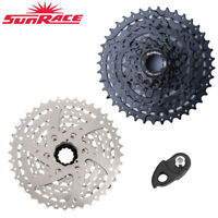 SunRace 8 Speed 11-40T MTB Bike Cassette Freewheel Adapter fit Shimano SRAM