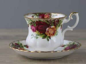 Royal Albert Old Country Roses Kaffeetasse Höhe ca. 6,5 cm mit Untertasse TOP