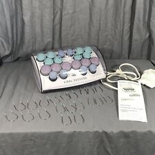 Vidal Sassoon VS322 Professional Hot Rollers Velvet Set 100% Complete Tested