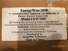 *NEW* ENERGY WISE POWER FACTOR CAPACITOR #EW 1000