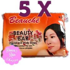 5 pcs Beauche International Beauty Bar Soap 90 grams Whitening Kojic Papaya