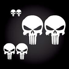 6 x Punisher Auto Aufkleber Sticker JDM Shocker Totenkopf Skull Nummernschild