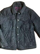 Blue Willi's Women's Jacket Size 42/Medium Heavy Quilted Cotton Danish Co Coat