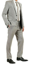 Versace Collection Men's 100% Wool Gray Two Button Suit Size 44 Italian 54