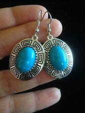 Earrings  Silver Turquoise Tribal Hippie Ethnic Boho Gypsy Bohemian A3031