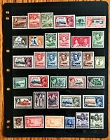 British Colonies Stamp Collection 5 Pages MNH/MH See Scans Free Ship