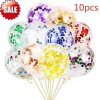 10pcs Silver Confetti Balloon Wedding Engagement Decoration Birthday Party ZP