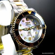 Invicta 2 Tone Grand Diver Automatic Diamond Ltd Edition Platinum MOP Watch New