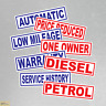 Pack of 5 Reusable Car Sales Garage Window Static Cling Graphics Fast Free Post