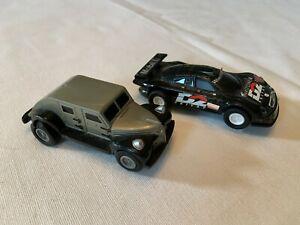 Slot Car Lot of 2 Mercedes AMG Vintage 1990s Runs Lights