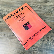 Oliver 60 Row Crop Tractor Operators Manual Owners Book Maintenance Adjustments