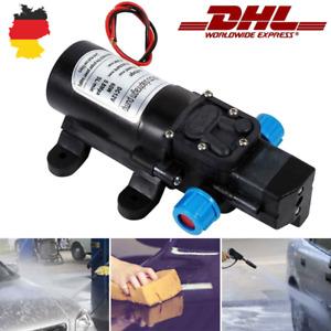 Wasserpumpe Selbstansaugende Pumpe 12V 60W Hochdruckpumpe Membranpumpe Yacht DHL