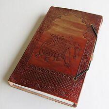 Lederbuch Kladde Notizbuch Tagebuch Buch Motiv  Elefant  3 Leder Knopf Indien