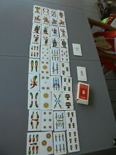 Ancien Jeu de Cartes Napolétane Plastificate N°82 et ses 40+2 Cartes : Dal Négro
