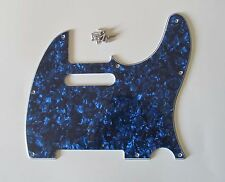 Tele/Telecaster Style Scratch Plate Guitar Pickguard Blue Pearl 3 Ply