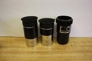 "Meade MA25 25mm & MA9 9mm 1.25"" Telescope Eyepiece Kit & 2x Barlow Lens"