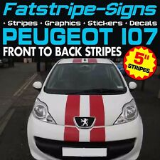 PEUGEOT 107 STRIPES GRAPHICS DECALS STICKERS VINYL GTI PUG 1.0 1.4 VIPER RACING