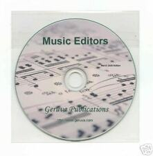 (Sheet) Music Editors for Windows, Linux, and MacOS,