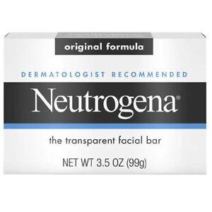 Neutrogena Transparent Facial Soap Bar 3.5 oz 5 For Only £19.99!