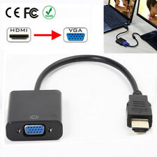HDMI Male to VGA Female output Video Audio Converter Adapter Cable With Chip set