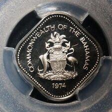 1974-FM Bahamas PCGS PR 70 Dcam 15 Cents