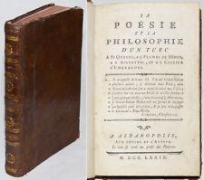 POESIE et PHILOSOPHIE D'UN TURC A 81 QUEUES, A 3 PLUMES DE HERON… Zannovic 1779