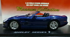 1/43 Kyosho Museum Collection Shelby Series 1 in Blue with White stripe. 03131Bw