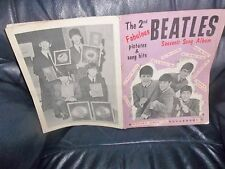 THE BEATLES ORIGINAL  2nd SHEET MUSIC BOOK 1964 , SONGS, NOTES, PHOTOS LYRICS