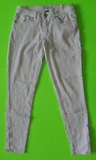 LL COOL J {Size 3} Junior's White Stretch Skinny Zipper Ankle Jeans VERY NICE!