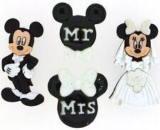 Jesse James Dress It Up Buttons - DISNEY MICKEY & MINNIE WEDDING ~ Sew~ Crafts