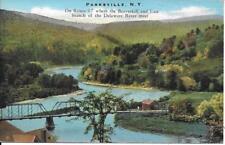Rt 17 Beaverkill East Br Delaware River Parksville NY Vintage postcard used 1943