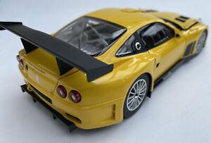 Ferrari 575GTC diecast model road race car Yellow 2004 1:18th scale Kyosho 8391C