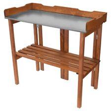 Dekorativer klappbarer Holz Planztisch mit verzinkter Arbeitsplatte 94x40x86