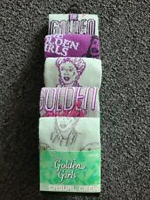 "NEW MENS ""GOLDEN GIRLS TV SHOW SERIES 5 PAIR CASUAL CREW SOCKS"" Shoe Size 8-12"