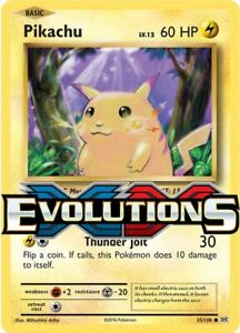 2016 Pokemon XY: Evolutions Set 113/108 Rare, Holo, Reverse - Choose Your Card!
