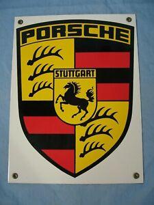 Vintage PORSCHE STUTTGART Porcelain Car Dealership Sign