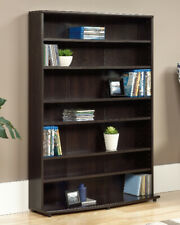 Multimedia Storage Tower Media Bookcase Organizer Bookshelf Shelf Wood Cd Dvd