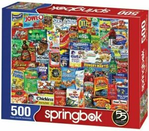 LOONEY LABELS 500 PIECE JIGSAW PUZZLE by SPRINGBOK ~ NEW & SEALED