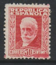 Spain - 1931/8, 30c Carmine stamp with Blue figures on back - M/M - SG 735A