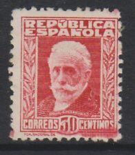 SPAGNA - 1931/8, 30 C Carmine Timbro con cifre blu sul retro-M/M-SG 735 A