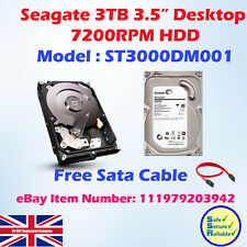 "Seagate 7200.14 3TB SATA III 3.5"" Hard Drive - 7200RPMrpm, 64MB Cache"