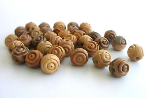 Carved Olive Wood Beads 12mm Rosary Bethleham Holy Land Drilled (Hole) Loose
