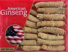 Hand-selected A Grade American Ginseng Root Medium Thin-Short Size (4 Oz. Box)