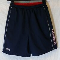 Boys Umbro Dark Navy Blue Logo Mesh Lined Swimming Swim Shorts Age 13 Years