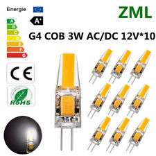 10pcs G4 LED 3W 12V AC/DC COB Cold white Light High Quality Lamp Bulb Dimmable