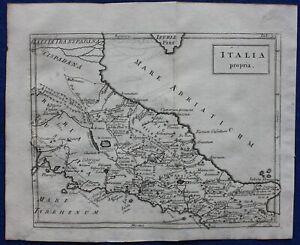 ITALIA PROPRIA, CENTRAL ITALY, ROME, original antique map SENEX, CELLARIUS, 1731
